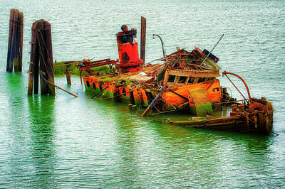 Photograph - Remains Of The Mary D. Hume In Gold Beach Oregon by Dee Browning