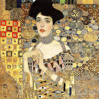 Photograph - Remastered Art Adele Bloch Bauer I By Gustav Klimt 20190214 Sq2 by Wingsdomain Art and Photography