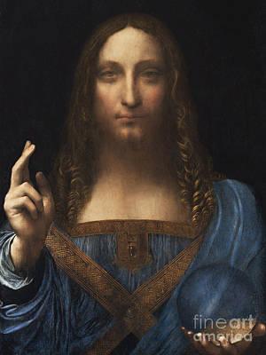 Photograph - Remastered Art Salvator Mundi Savior Of The World By Leonardo Da Vinci 20190310 by Wingsdomain Art and Photography