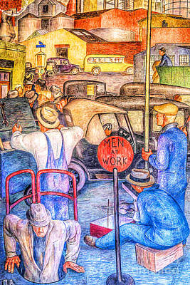 Photograph - Remastered Art San Francisco Coit Tower Mural 20190419 Triptych 1 Of 3 by Wingsdomain Art and Photography