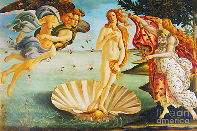 Painting - Remastered Art The Birth Of Venus By Sandro Botticelli 20180925 by Wingsdomain Art and Photography