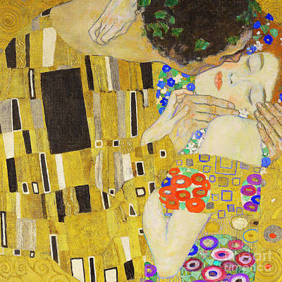 Photograph - Remastered Art The Kiss By Gustav Klimt 20190214 Sq2 by Wingsdomain Art and Photography