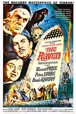 Photograph - Remastered Nostagic Vintage Poster Edgar Allan Poe The Raven Nostalgia Poster 20181223 by Wingsdomain Art and Photography