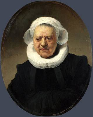 Science Collection - REMBRANDT Harmenszoon van RIJN - Portrait of Aechje Claesdr by European Paintings
