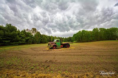 Photograph - Reo Farm Truck Stormy Sky by Robert Seifert