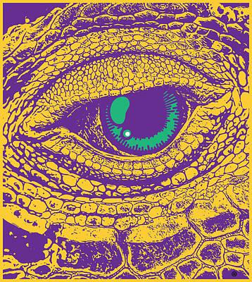 Digital Art - Reptile Eye by Gary Grayson