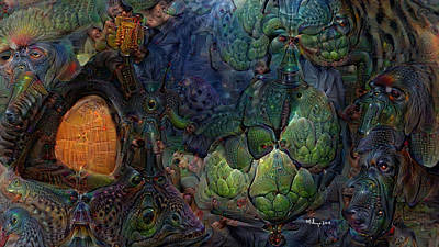 Digital Art - Reptilian Fantasies by Mike Butler