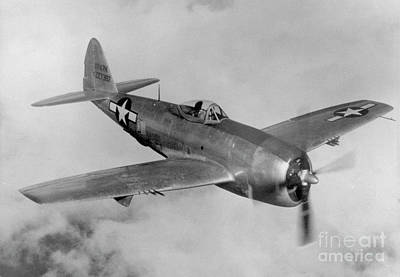 Pop Art - Republic P-47N Thunderbolt by Atlas Photo Archive