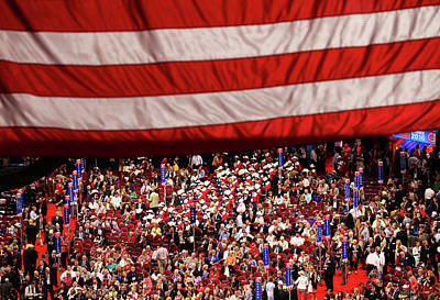 Photograph - Republican National Convention Day One by John Moore
