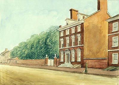 Drawing - Residence Of Washington In High Street by William Breton