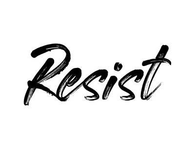 Digital Art - Resist - Black On White by Ruth Moratz