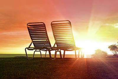 Lounge Chair Photograph - Resort Near Mauna Kea Of The Big Island by Studio 504