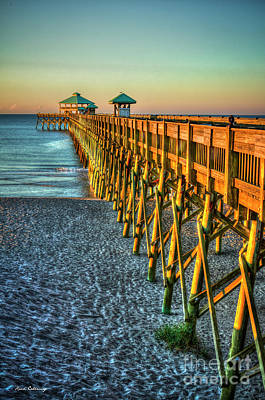Photograph - Resplendent Light Folly Beach Pier Sunrise Charleston South Carolina Art by Reid Callaway