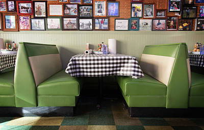 Photograph - Restaurant Booth by Bud Simpson