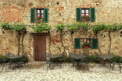 Photograph - Restaurant Tables In Italy by Mammuth