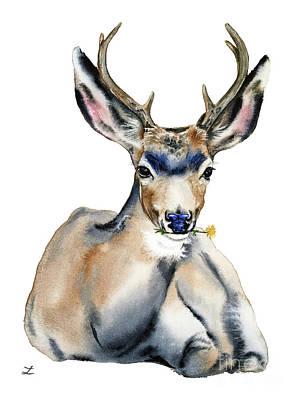 Painting - Resting Deer by Zaira Dzhaubaeva