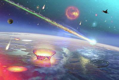 Digital Art - Restless Planet by Don White Artdreamer