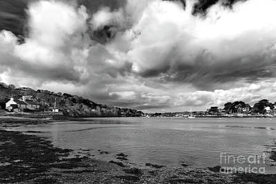 Photograph - Restronguet Weir In Monochrome by Terri Waters