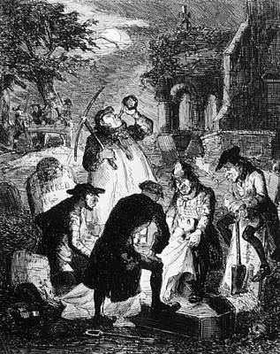 Resurrectionists At Work Art Print by Hulton Archive