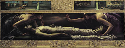 Another Painting - Retable Of The Saint Ines' Death by Julio Romero de Torres
