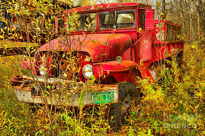 Photograph - Retired Fire Tanker by Adam Jewell