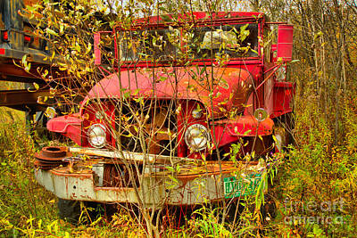 Photograph - Retired Fire Truck Water Tanker by Adam Jewell