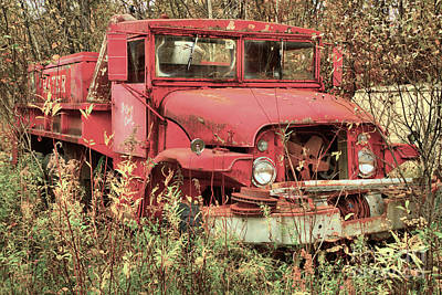 Photograph - Retired Vermont Fire Tanker by Adam Jewell