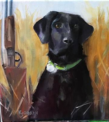 Karen Jordan Wall Art - Painting - Retriever by Karen Jordan