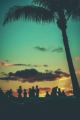 Beer Royalty-Free and Rights-Managed Images - Retro Beach Party by Mr Doomits