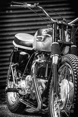 Photograph - Retro Triumph Monochrome by Tim Gainey
