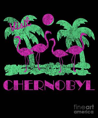 Digital Art - Retro Visit Chernobyl by Flippin Sweet Gear