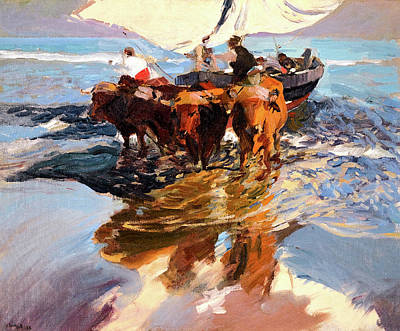 Painting - Return From Fishing - 1894 by Juaquin Sorolla