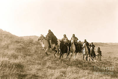 Photograph - Return Of Scouts Cheyenne 1910 by American School