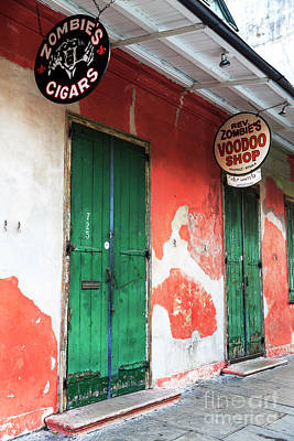 Voodoo Shop Wall Art - Photograph - Rev Zombie's Voodoo Shop New Orleans by John Rizzuto