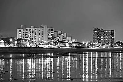 Photograph - Revere Beach Reflection Ocean Ave Black And White by Toby McGuire