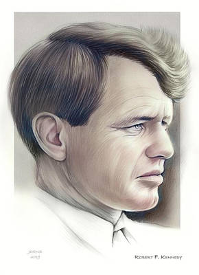 Drawings Rights Managed Images - Rfk Royalty-Free Image by Greg Joens