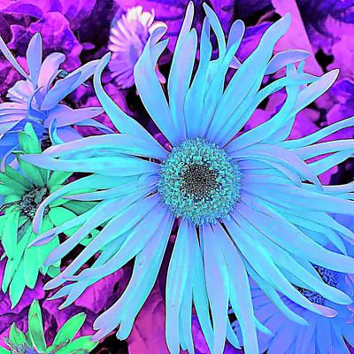 Blue Digital Art - Rhapsody In Bleu by Cindy Greenstein