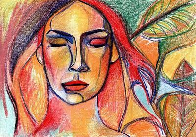 Drawing - Rhiannon by Lee Wilde-Portraits