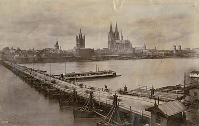 Rhine In Cologne Art Print by Hulton Archive