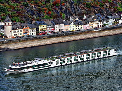 Photograph - Rhine River Cruise Ship by Anthony Dezenzio