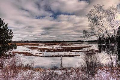 Photograph - Rhinelander Flowage Backwaters In White by Dale Kauzlaric