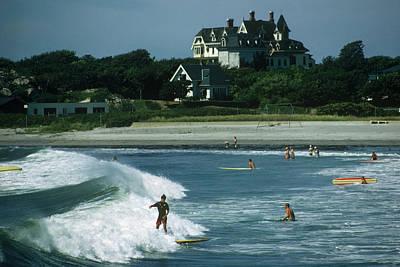 Rhode Island Surfers Art Print