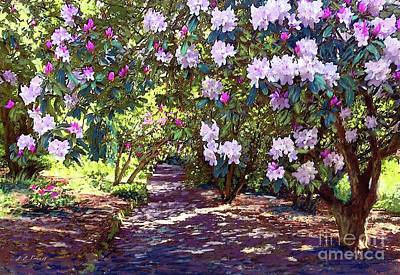Landmarks Painting Royalty Free Images - Rhododendron Garden Royalty-Free Image by Jane Small