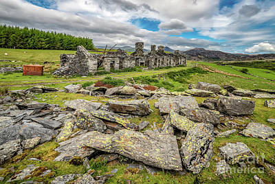 Photograph - Rhos Quarry Cottages Snowdonia by Adrian Evans