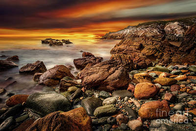 Photograph - Rhoscolyn Coastline Sunset  by Adrian Evans