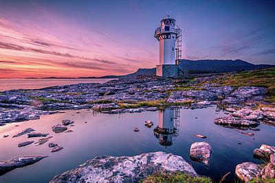 Photograph - Rhue Lighthouse 2 by John Frid