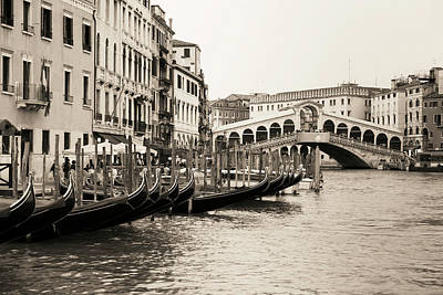 Photograph - Rialto Bridge In Venice by Tomch