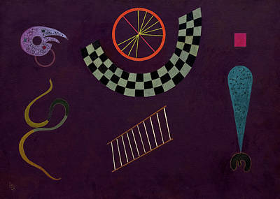 Kandinsky Wall Art - Painting - Ribbon With Squares, 1944 by Wassily Kandinsky