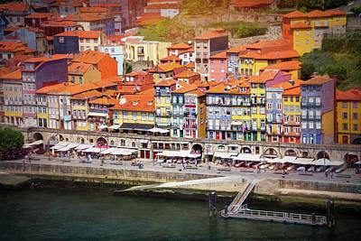 Porto Wall Art - Photograph - Ribeira Waterfront Porto Portugal  by Carol Japp