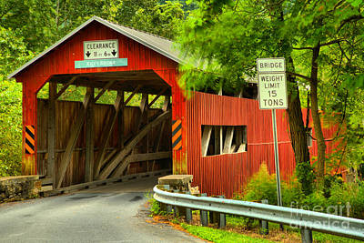 Photograph - Rice's Covered Bridge Landscape by Adam Jewell